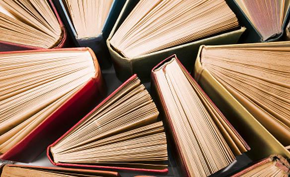 books upright big